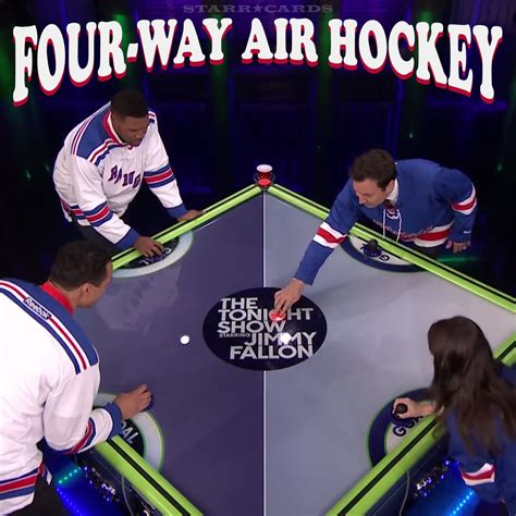 michael strahan and tony gonzalez lose in four way air hockey
