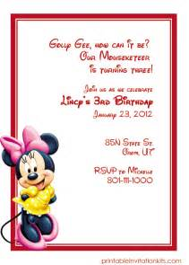 free minnie mouse birthday invitation templates minnie mouse birthday invitation wedding invitation