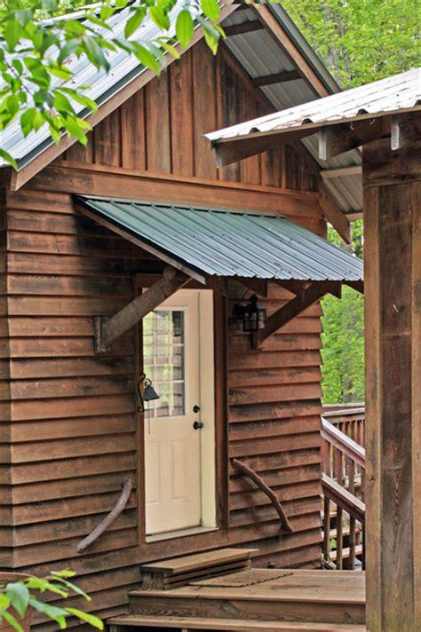 Log Cabin Mud Room Entry Door