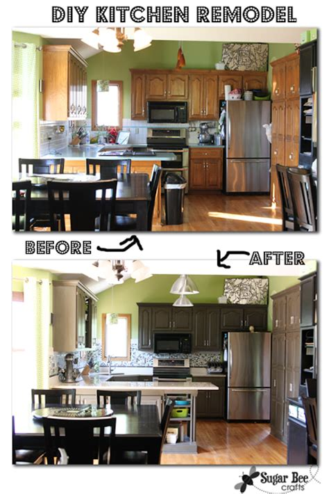 diy kitchen renovation diy kitchen remodel the big reveal sugar bee crafts