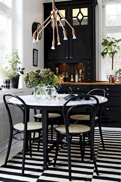 black and white dining room decor inspirations