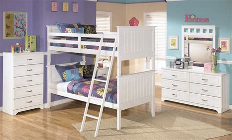 lulu bunk bedroom set  ashley   coleman furniture