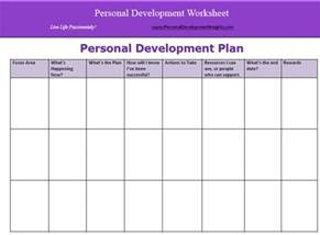 Template For A Personal Development Plan by Personal Development Plan