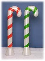 plastic candy cane yard decorations plastic light up canes outdoor decortations illuminated figures
