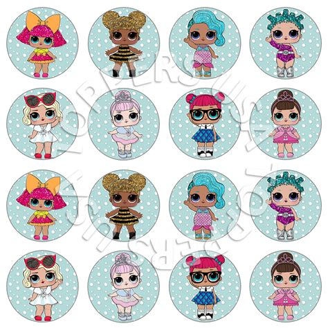 Cupcake Toppers Karakter Tema Foto 1 16x lol dolls inspired cupcake by toppers usa on zibbet