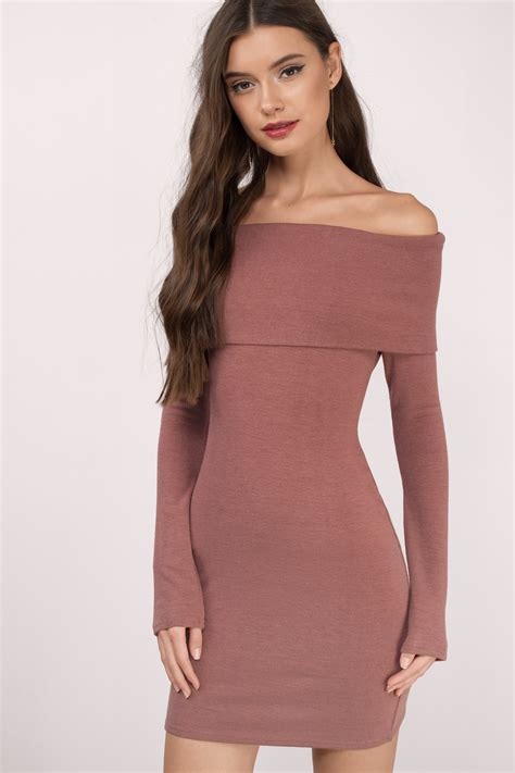 Dres Offshoulder olive bodycon dress the shoulder dress 29 00