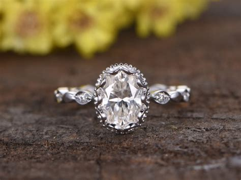 1 5 carat oval ring gold 1 5 carat moissanite oval engagement rings 14k