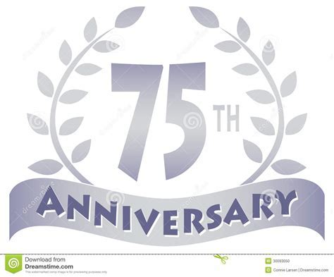 Seventy Fifth Anniversary Banner/eps Stock Photo   Image