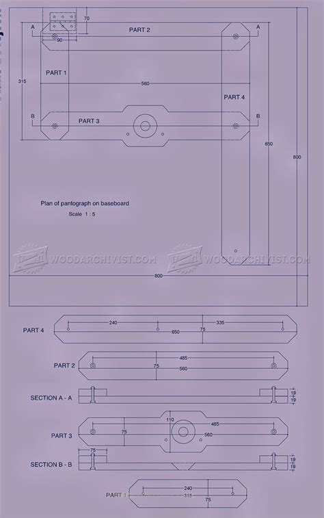 plans com router pantograph plans woodarchivist
