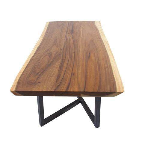 light brown dining table stained light brown suar and iron rectangular dining table