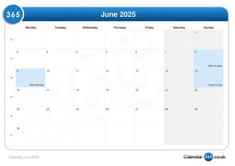 fathers day 2025 calendar june 2025