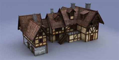 medieval house medieval house 3d model max obj 3ds fbx mtl mat cgtrader