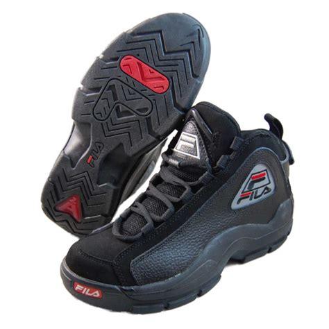fila shoes basketball fila mens 96 black basketball shoes 1vb90037 010