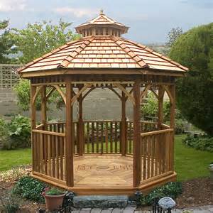 lowes patio gazebo outdoor living today bayside10 bayside 10 ft cedar