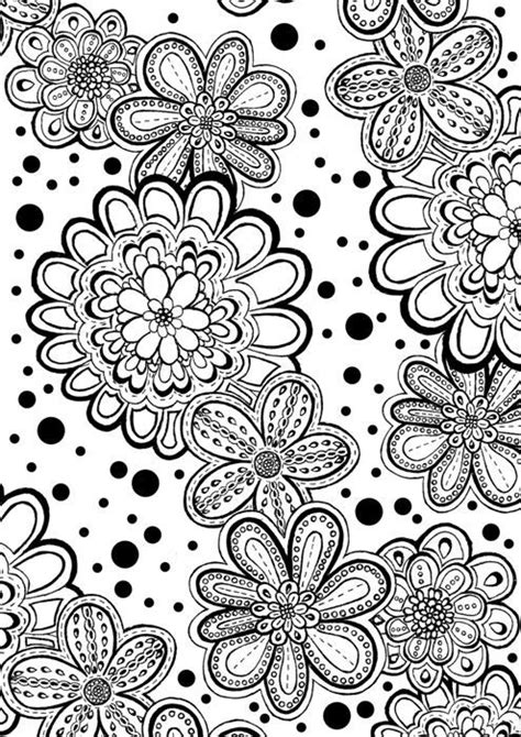 coloring pages abstract flowers flower abstract doodle zentangle coloring pages colouring