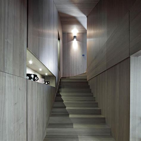 Minimalist Stairs Design Concrete Circular Stairwell Focus Of Minimalist Residence