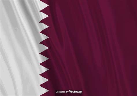 vector realistic illustration  qatar flag