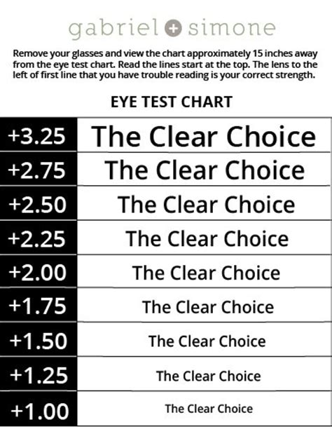 printable eye chart for reading glasses galleon magnipros 174 big a4 size full page magnifying