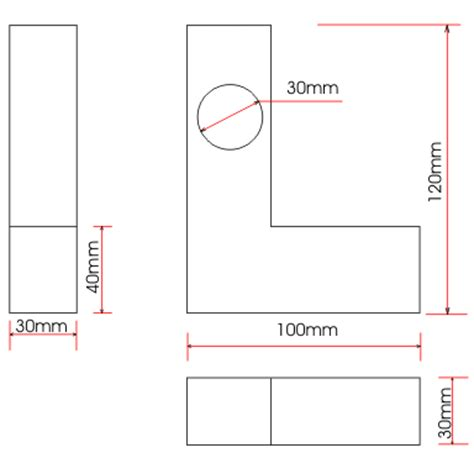 drawing with measurements dimensions