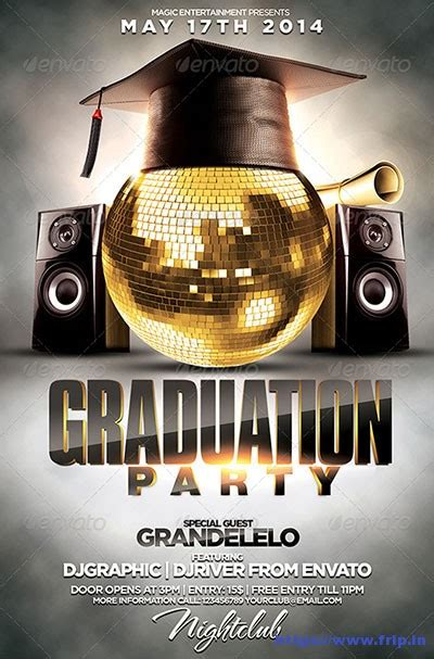 20 Best Graduation Party Flyer Print Templates 2017 Frip In Graduation Flyer Template Free