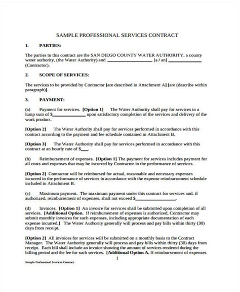service delivery agreement template professional services agreement template professional