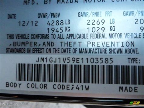 2014 mazda6 color code 41w for jet black mica photo 76391154 gtcarlot