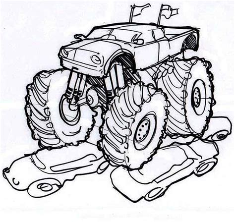 monster truck coloring pages letscoloringpages fire