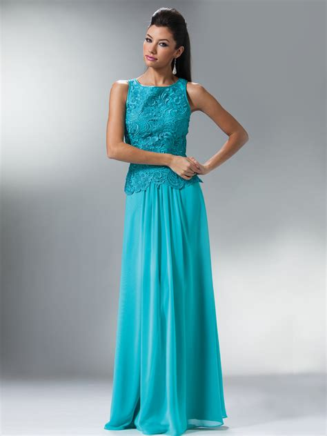 Embellished Bodice Chiffon Evening Dress Sung Boutique L.A.