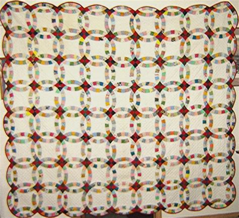 you have to see antique wedding ring quilt by linpiration