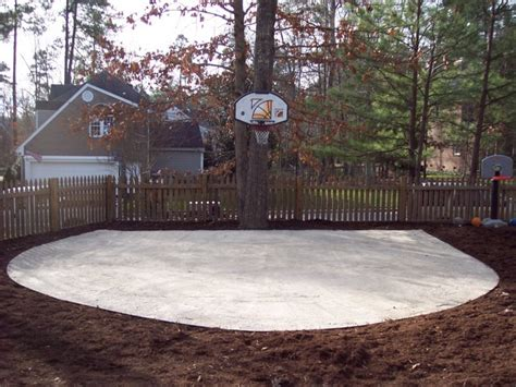 pictures of outside basketball courts tiered backyard