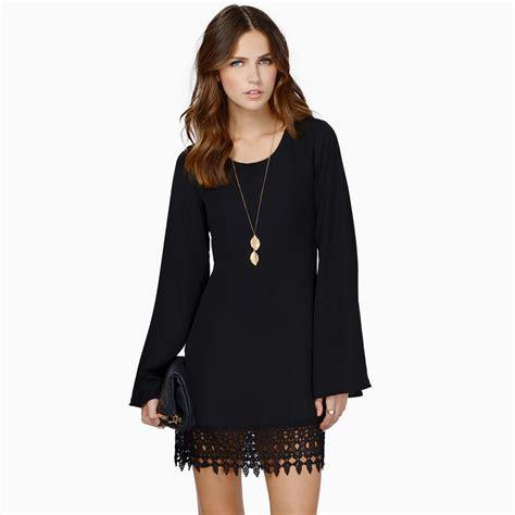 Black Pt 02 Top vestido de renda chiffon mini comprida mulheres