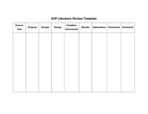 best photos of sample literature review summary table literature review table example summary