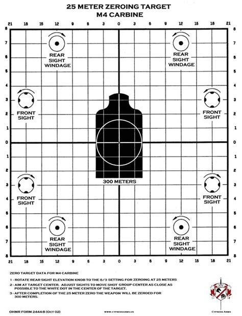 printable targets for zeroing m4 zeroing target printable be tactical pinterest target