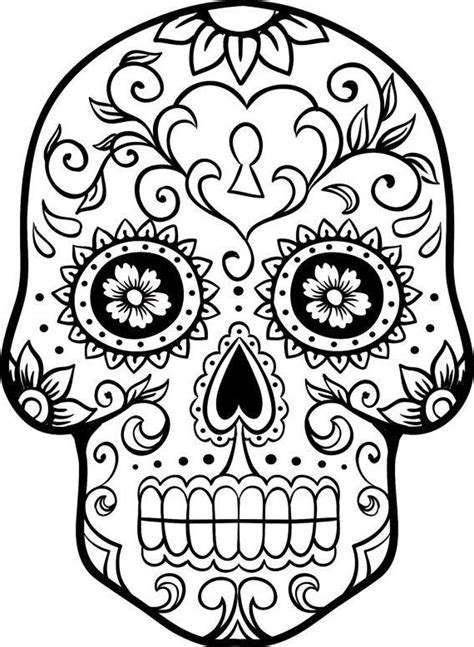 candy skull tattoo coloring pages