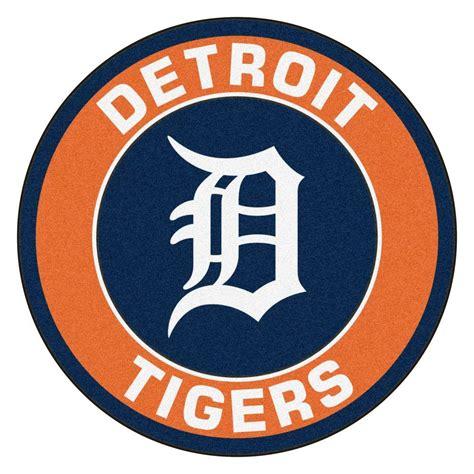 kaos baseball detroit tiger logo 3 fanmats mlb detroit tigers orange 2 ft 3 in x 2 ft 3 in