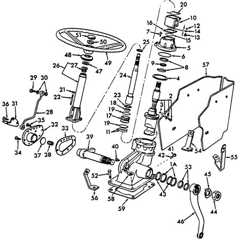ford 5000 power steering diagram ford 4100 tractor parts diagram ford free engine image