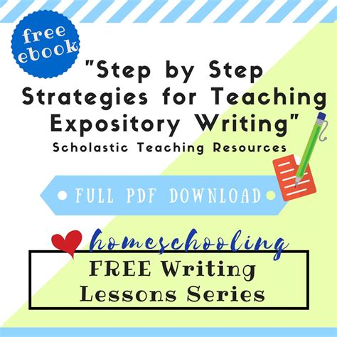 Step By Step Essay Writing by Free Writing Lessons Series Step By Step Strategies For Expository Writing