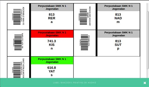membuat barcode buku cara membuat label barcode warna pada slims 8 akasia r a