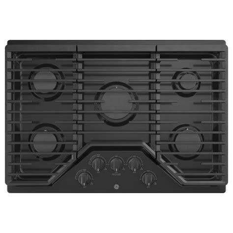 black gas cooktops ge 30 in 5 burner black gas cooktop common 30 in actual