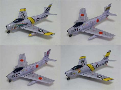Aircraft Papercraft - american f 86f sabre fighter free aircraft paper