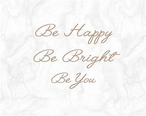 Be Happy Notebook be happy be bright be you gold marble laptop