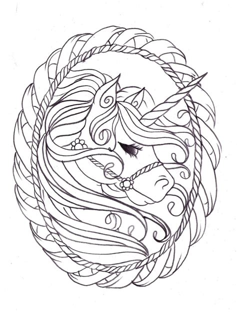 unicorn sketch by nevermore ink on deviantart