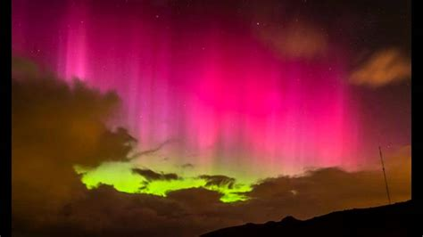 southern lights southern lights amazing pink aurora seen in skies above