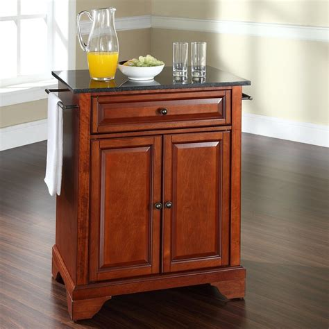 lowes kitchen island shop crosley furniture brown craftsman kitchen island at