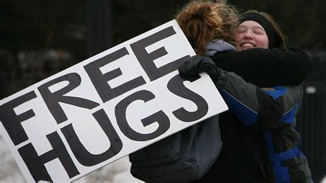 free hug guy nestl 233 study shows that men who hug more have more friends