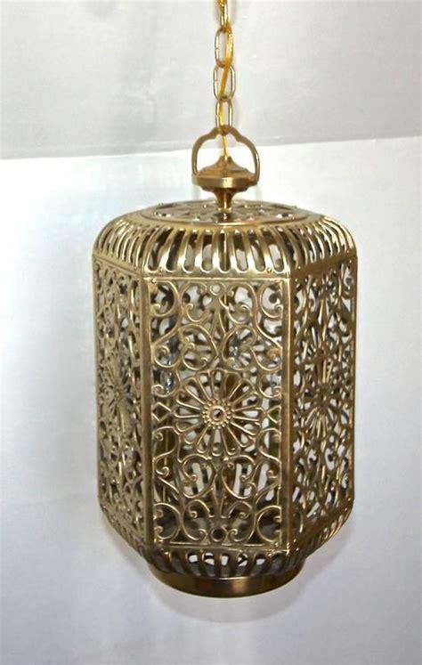 Asian Pendant Light Large Pierced Filigree Brass Japanese Asian Ceiling Pendant Light For Sale At 1stdibs