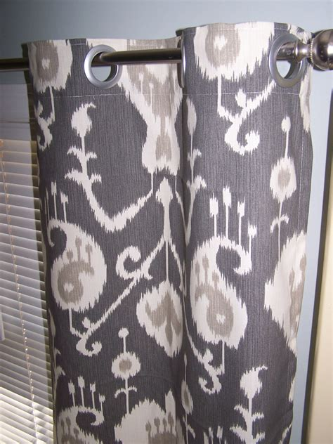 grey ikat curtains charcoal grey ikat curtains with grommets choose unlined or