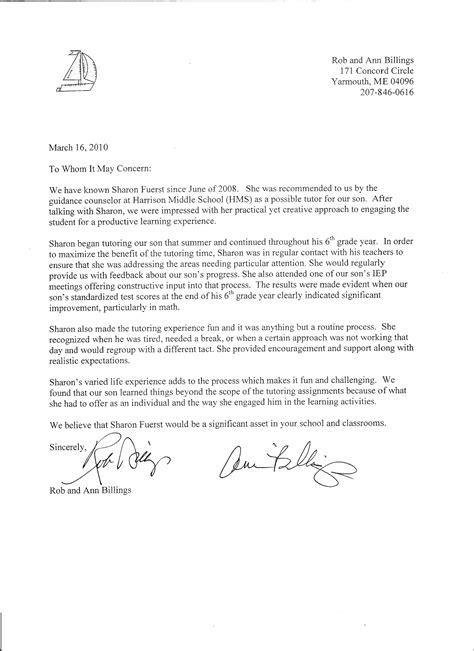Reference Letter For sle recommendation letter for a student
