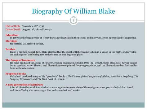 biography of william blake ppt william blake 1757 1827 powerpoint presentation id
