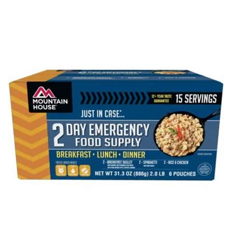 where to buy mountain house meals mountain house just in case 2 day emergency food kit